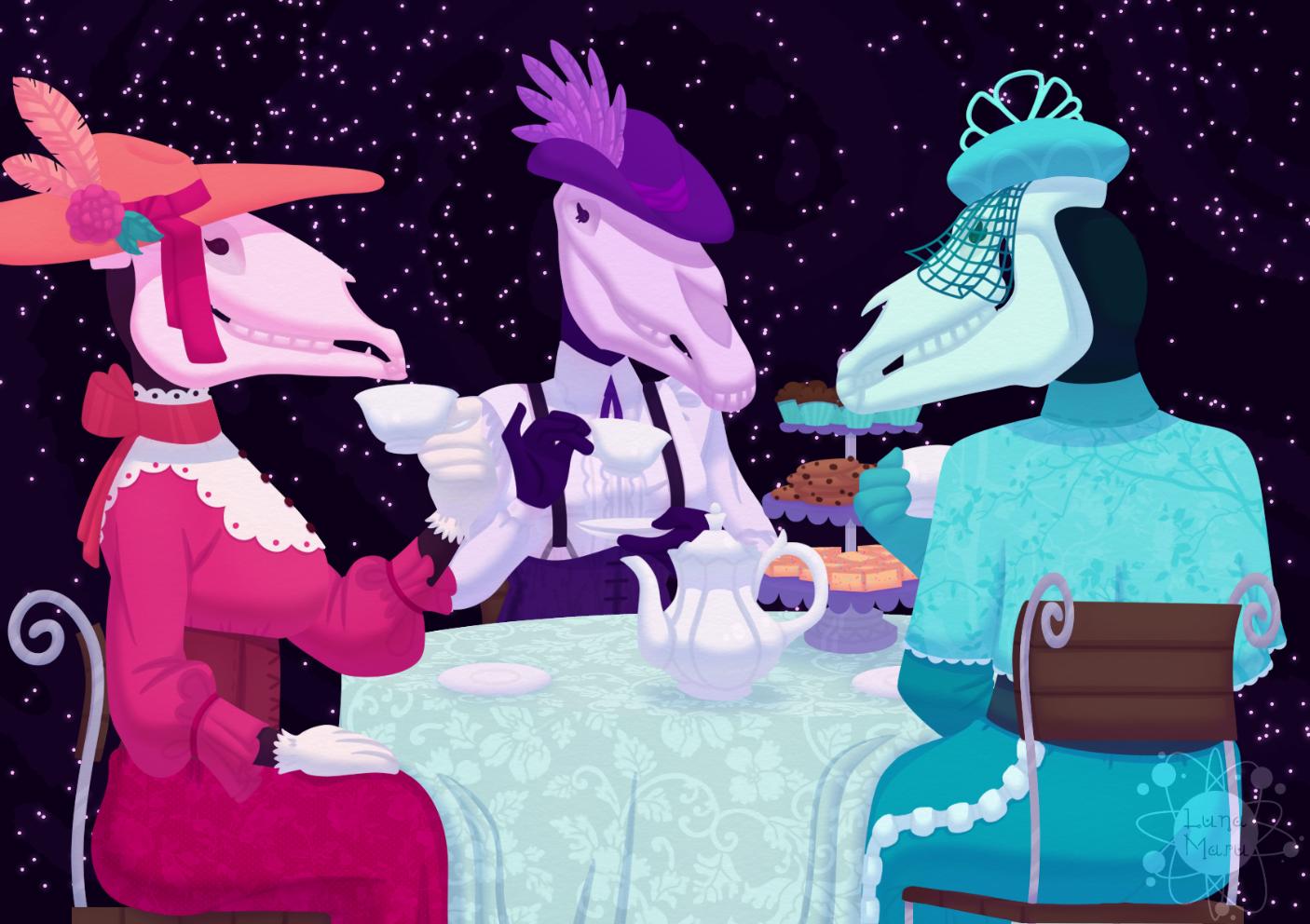 Ein Bild, das Tisch, Kuchen, sitzend, Frau enthält.  Automatisch generierte Beschreibung