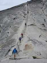Photo: The cables on Half Dome