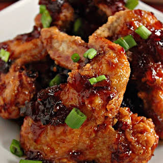 Pineapple Tequila Sticky Chicken Wings.