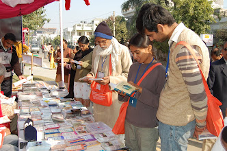 Photo: Devotees at the Book Stall