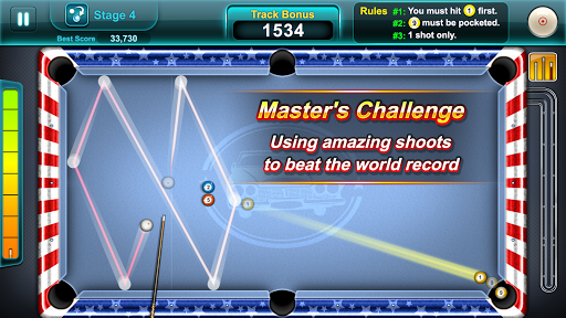 Pool Ace: capturas de pantalla de 8 Ball y 9 Ball Game 2