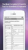 Screenshot of Math Formulary