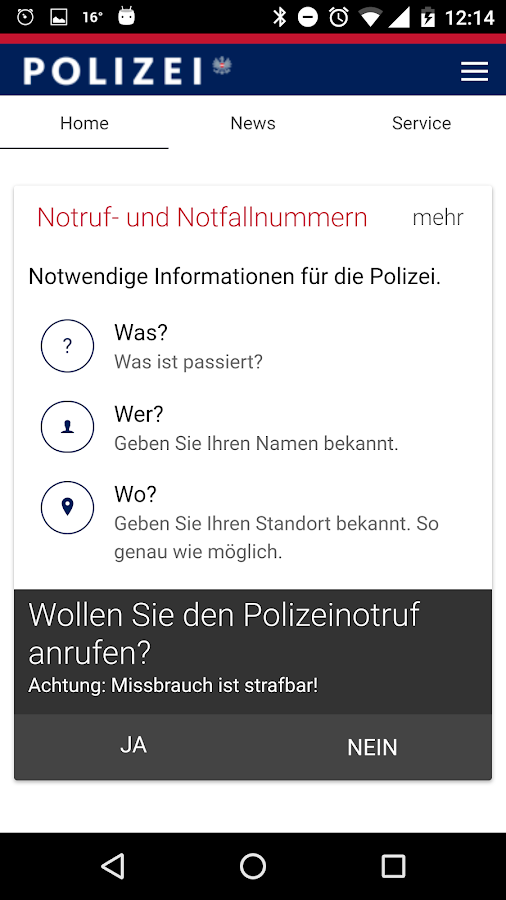 Polizei- screenshot