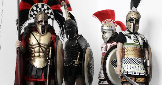 ACI TOYS 1:6 Greek Hoplites, photography by collectors