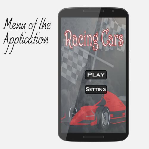Cars in speed race