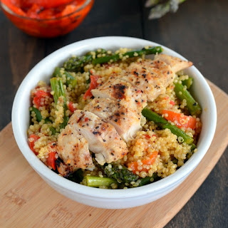 Roasted Red Pepper and Asparagus Quinoa.