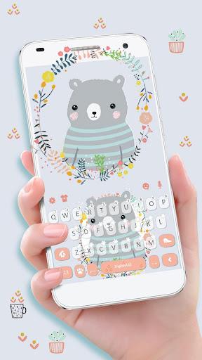 Cartoon Bear Keyboard Theme ss1