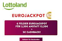 Angebot für Lottoland EuroJackpot im Supermarkt