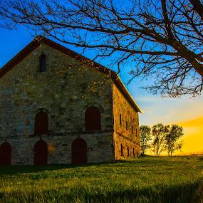Stone Barn by Bruce Thiel - Buildings & Architecture Public & Historical ( farm, barn,  )