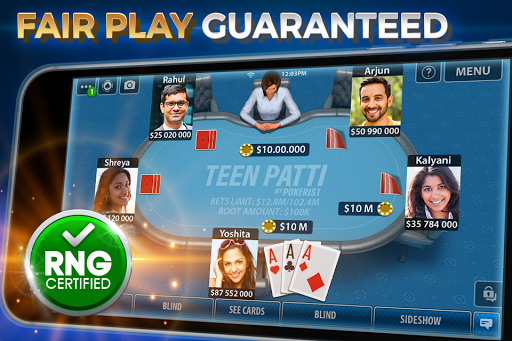 Teen Patti by Pokerist screenshot 1