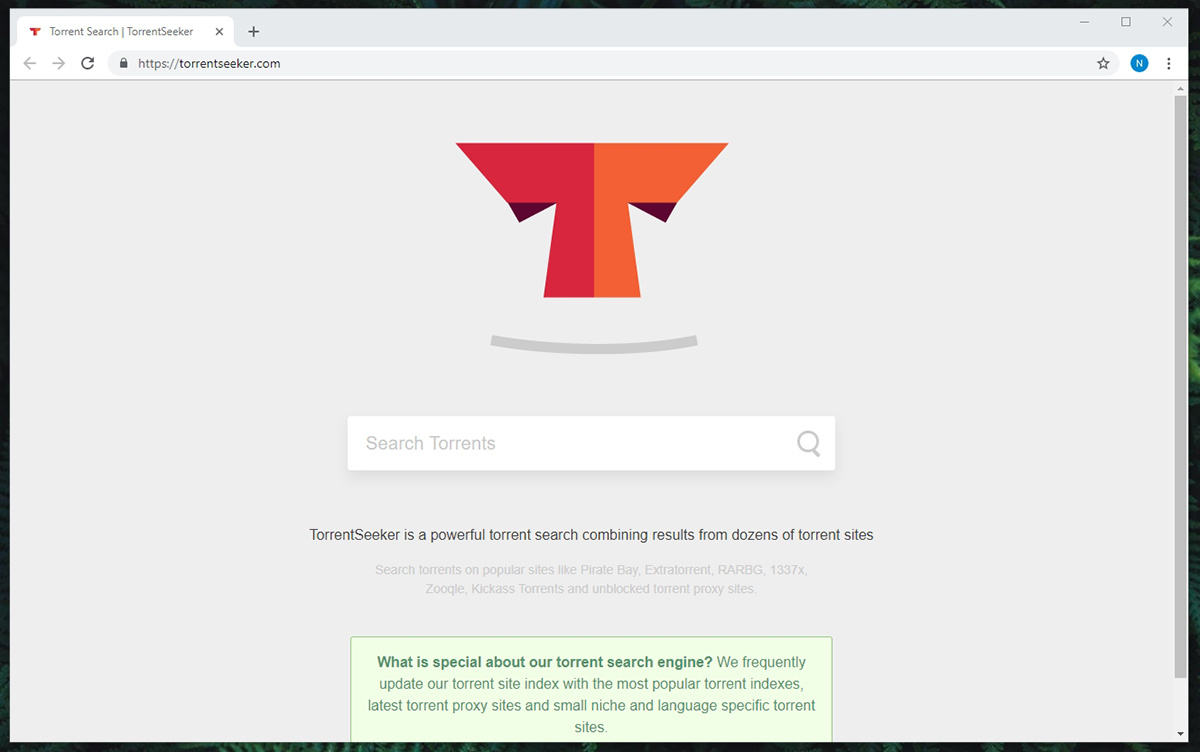 TorrentSeeker Search Engine