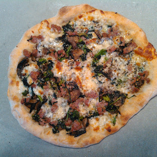 Broccoli Rabe with Sausage Pizza