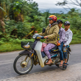 Asia on the road by Wahan Shahbazian - People Street & Candids ( bike, family, asia, motorcycle, vietnam, scooter )