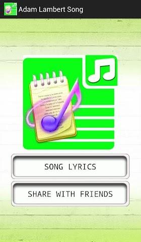 android All Lyrics Of Adam Lambert Screenshot 0