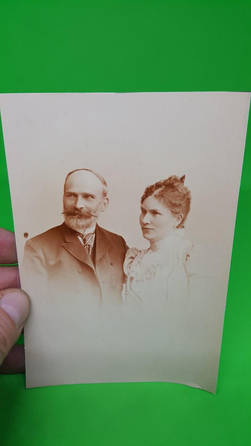 Hochzeit Gustav Lange und Käthe  geb. Hanel, 1.6.1909 - Eltern des Bräutigams
