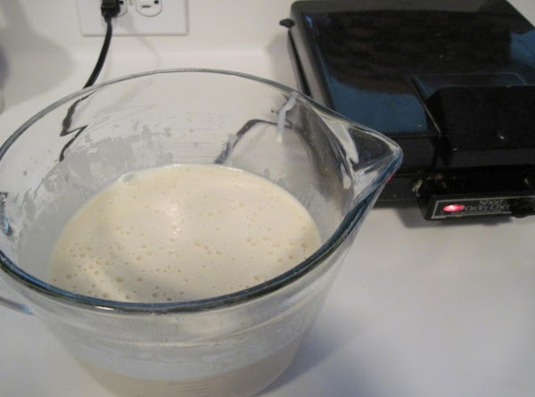 Sift dry ingredients together 3 times. Beat eggs with hand mixer until frothy. Add...