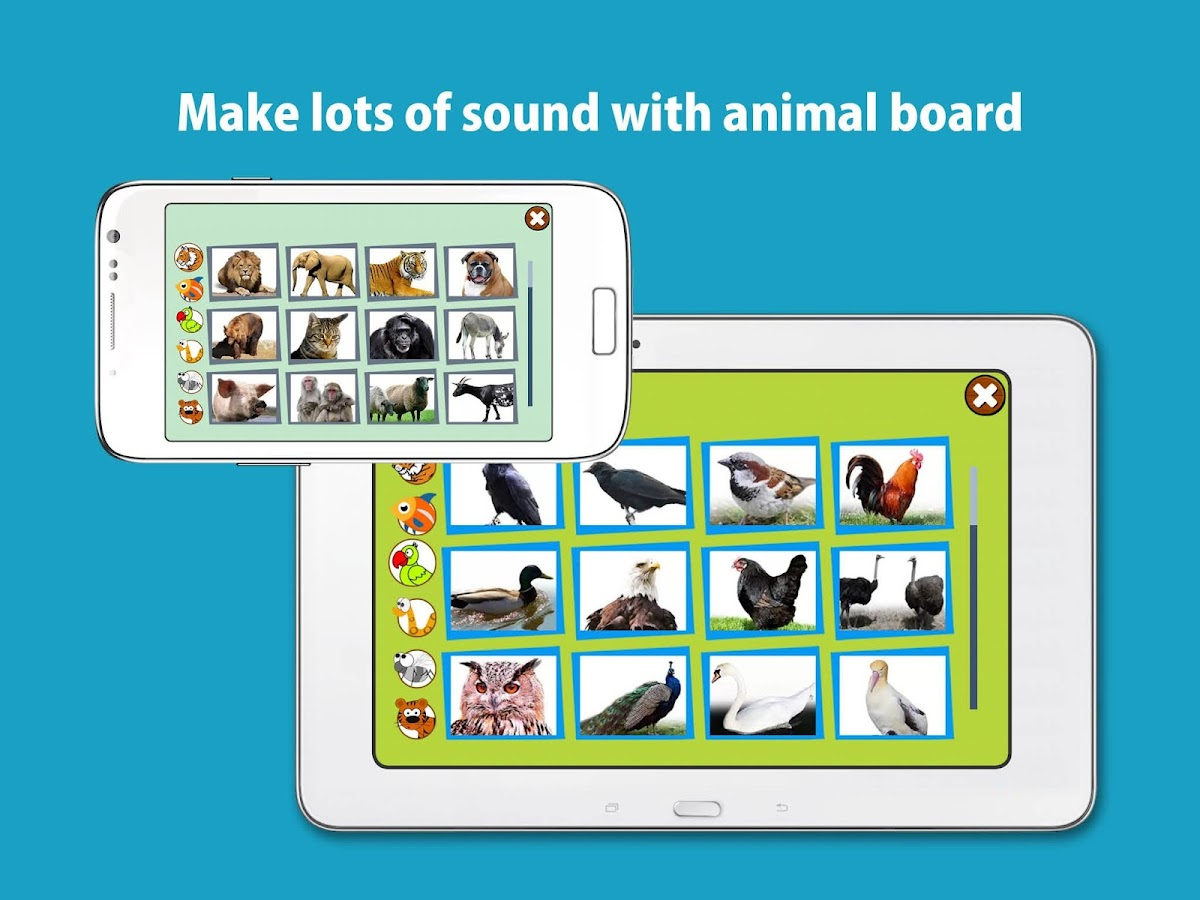 Kids Zoo, animal sounds & pictures, games for kids- screenshot