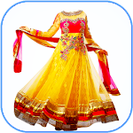 Anarkali Dress for Women Photo Suit Editor Icon