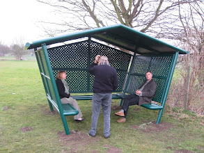 Photo: Erection of Teen shelter on Recreation Ground 28th February 2008