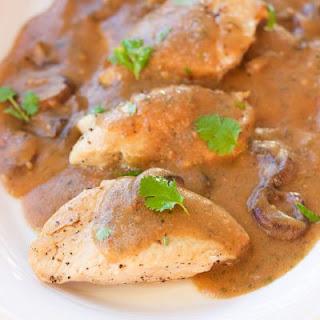 One-Pot Garlic Mushroom Chicken Skillet.
