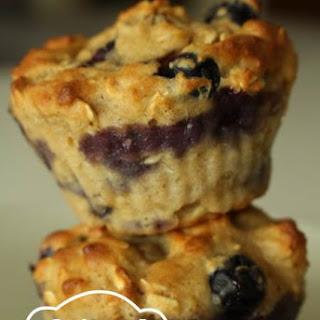 Oatmeal Blueberry Applesauce Muffins.