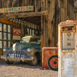 Nelson's Garage by Eric Yiskis - Buildings & Architecture Decaying & Abandoned ( desert, barn, gas pump, nevada, garage, nelson, abandoned )