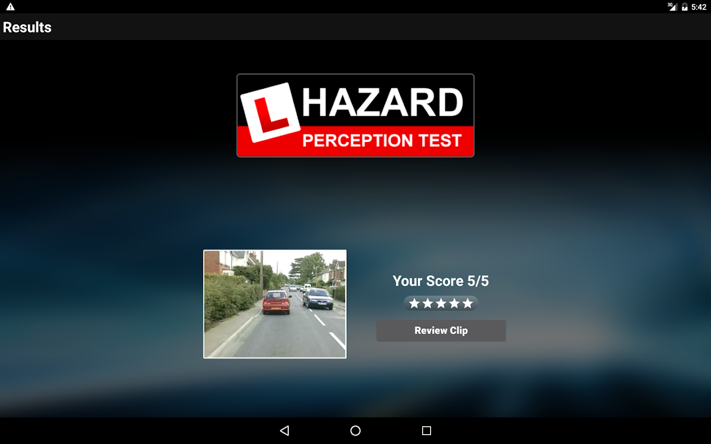 Hazard Perception Test Vol 1: DVSA Hazard Clips- screenshot