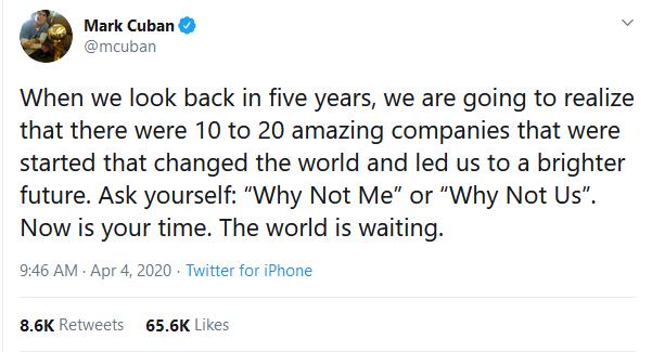 Mark Cuban Tweet