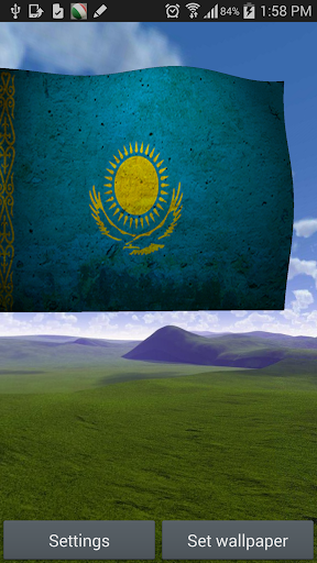 Kazakhstan Flag Live Wallpaper