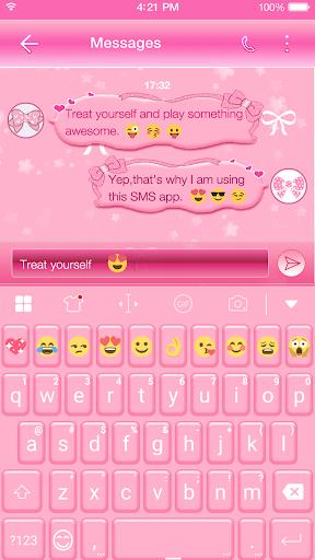玩免費遊戲APP|下載Lovely Pink Keyboard-Emoji Gif app不用錢|硬是要APP