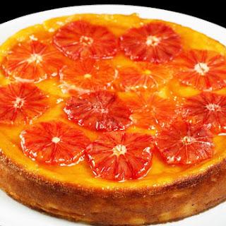 Blood Orange Ricotta Cheesecake.