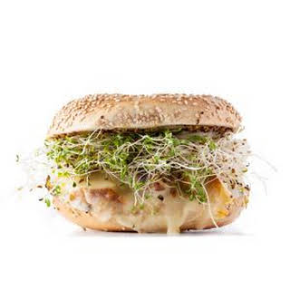 Chicken, Sprouts, and Provolone Sandwich.