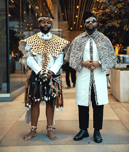 Cassper and Sjava at the BET Awards.