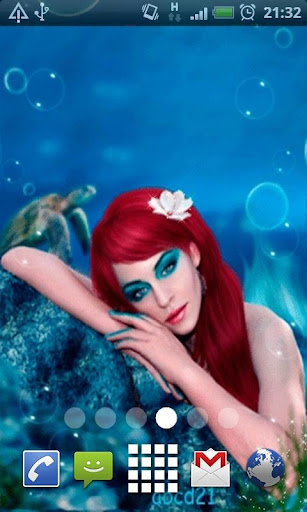 Beautiful Mermaid L Wallpaper