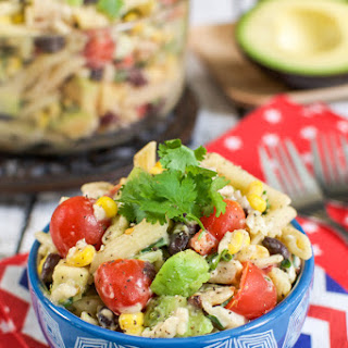Southwest Avocado Ranch Pasta Salad