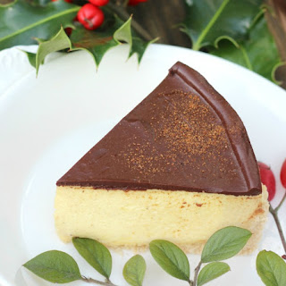 Eggnog Cheesecake {Paleo/Primal, no-bake, gluten-free; with keto/low carb and GAPS Diet options}.