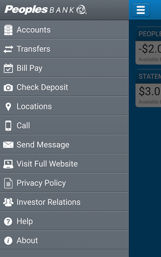 Peoples Mobile Banking Screenshot