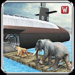 Underwater Animal Transport 3D Icon