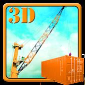 Heavy Cargo Ship Crane Loading