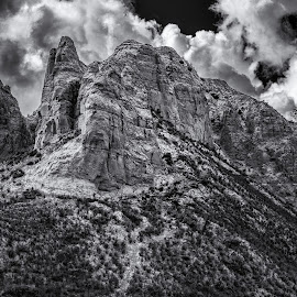 Giant's Playground - B&W by Garry Dosa - Black & White Landscapes ( clouds, ominous, b&w, mountain, black & white, rugged )
