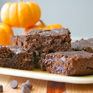 Whole Wheat Pumpkin Brownies