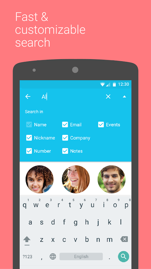Contacts+- screenshot