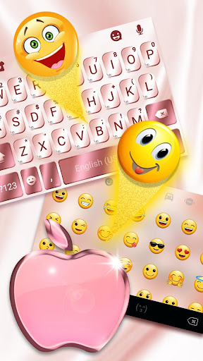 Rose Gold Keyboard for Phone8 8.0 3
