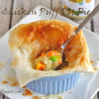 Pesto Chicken Puff Pot Pie