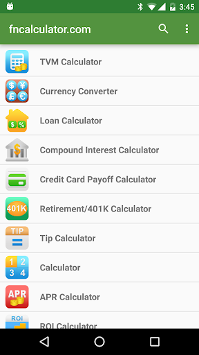 Financial Calculators Pro screenshot