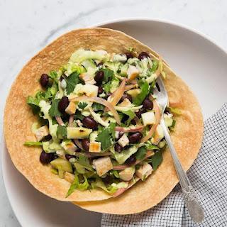 Detox Tostada Salad with Cilantro Cashew Dressing