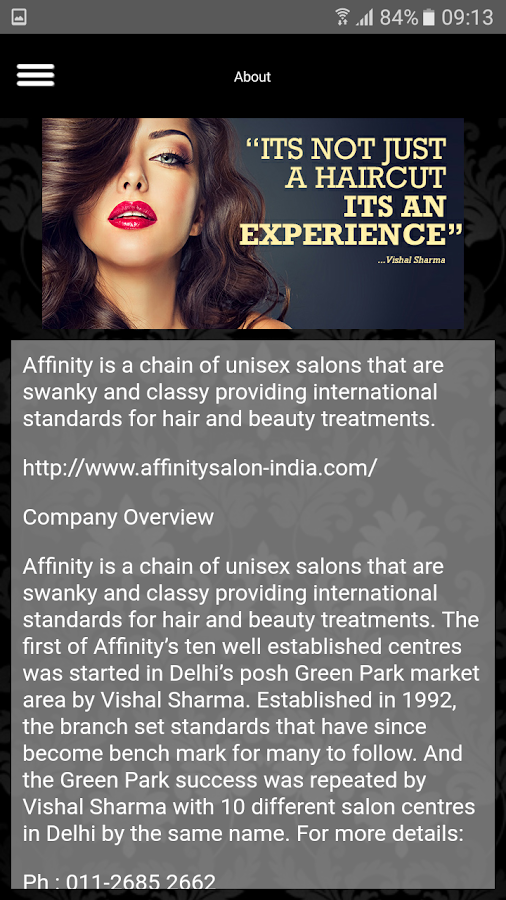 Affinity Salon- screenshot