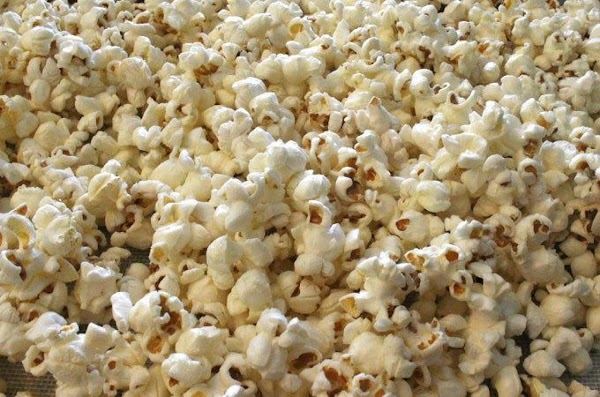 First make some popcorn.  You can use microwave popcorn if you really have...