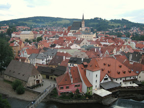 Photo: Looking over Cesky Krumlov from the Krumlov Castle