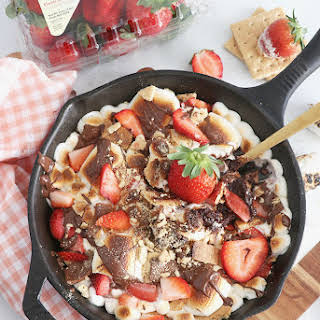 Strawberry S'mores Skillet Dip.